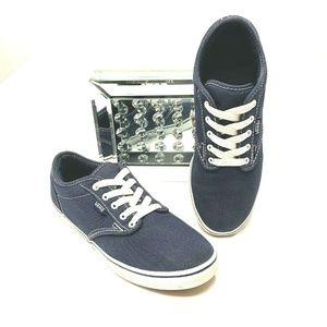 VANS Blue Shoes Sneakers size 6.5 M Low Top Lace